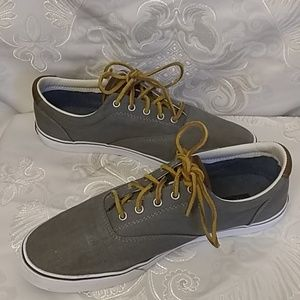 Tommy Hilfiger Ampost Grey Canvas Sneakers. 9.5
